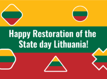 Wishing Happy Restoration of the State day to Lithuania in 51 language