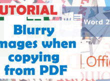 Blurry images when copying from pdf