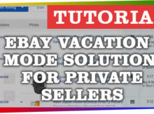 eBay Vacation Mode Solution for private sellers