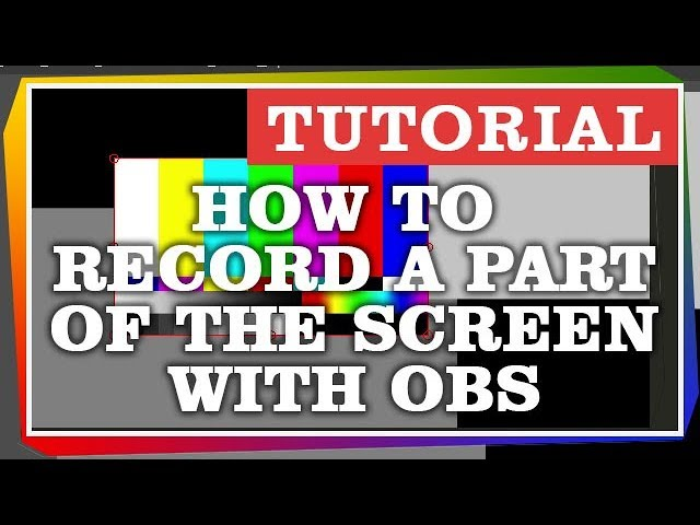 How Record a Part of the Screen with OBS and a frame • Tarantulo lt