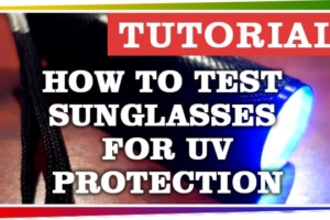 How to Test Sunglasses for UV protection with UV Light Flashlight